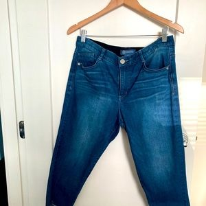 DEMOCRACY Crop Blues Jeans Ab-solution Stretch